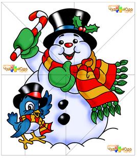 Скачать пазлы - Снеговик