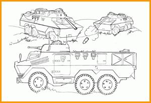 раскраски военная техника и солдаты