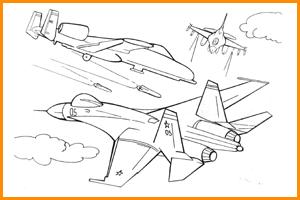 раскраска военные самолеты