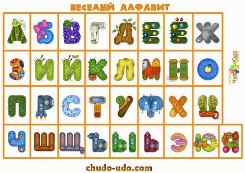 печатные буквы русского алфавита плакат на стену и