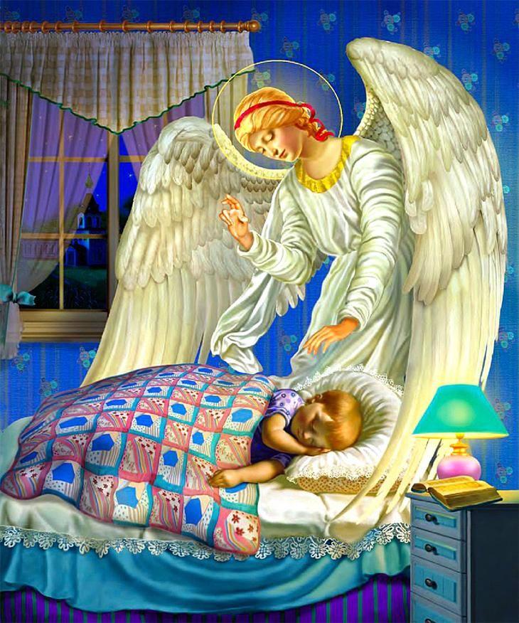 картинка с ангелом хранителем охраняющим сон временем