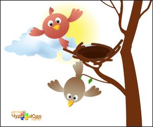 Скороговорки развития детей в картинках - Пара птиц