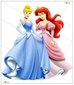 Пазлы - Разрежь и собери - Две Принцессы