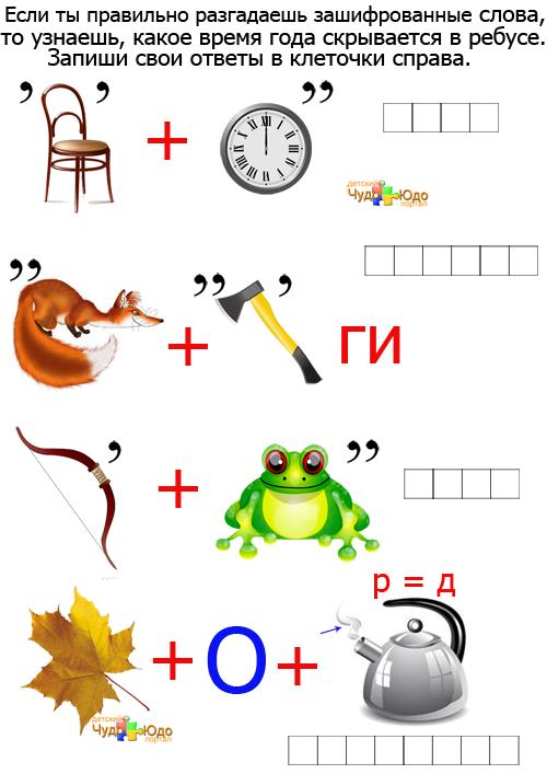 Интересные ребусы по математике для 6 класса с ответами