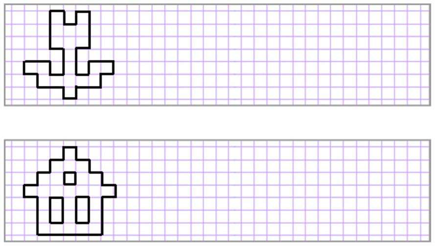 схема по клеточкам картинки в тетради легкие