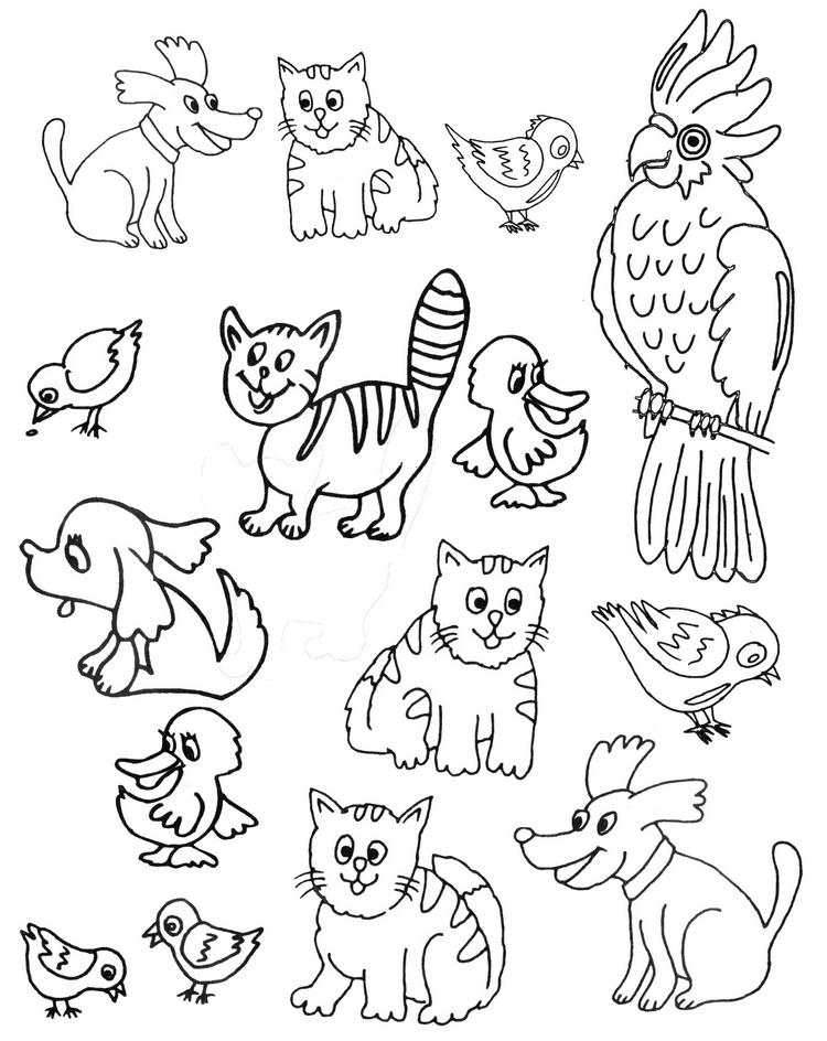 Раскраски «Домашние животные» для детей 3-4 лет распечатать | 944x750