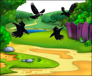Скороговорки развития детей в картинках - Четыре вороны