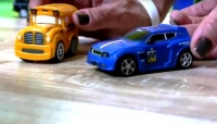 Bburago Toy Car CIRCUS - Speedy & Bussy - Gas Station RACE! Go Gears Toy Cars