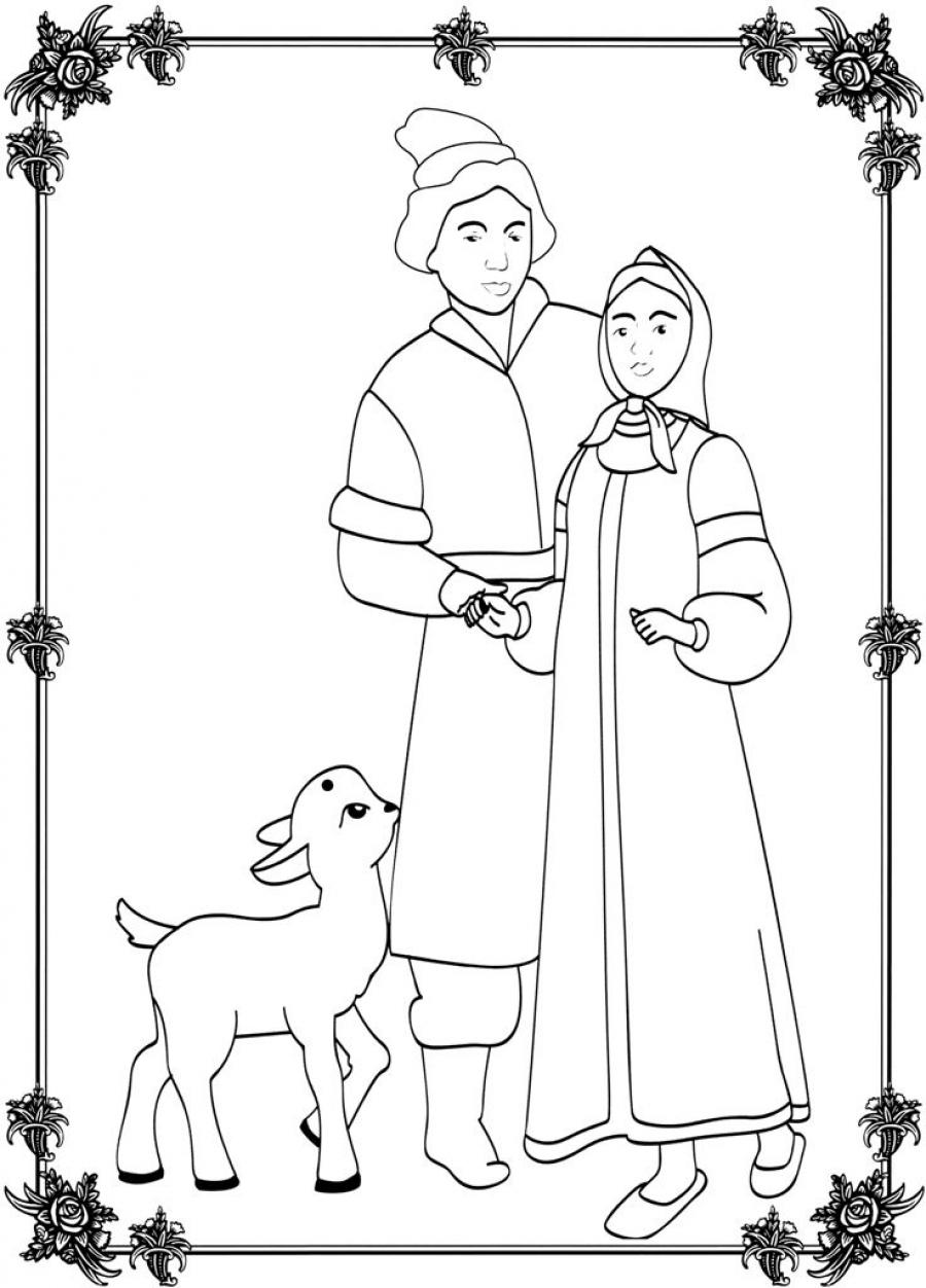 Сестрица аленушка и братец иванушка рисунки карандашом