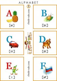 английский алфавит карточки распечатать