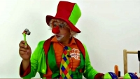 Funny videos for kids. Emil the clown and the magic musical instruments